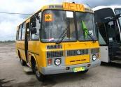 На новеньком автобусе