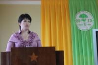 Выступление специалиста отдела охраны окружающей среды и экологической безопасности Кировской области по Унинскому району  на районной экологической конференции
