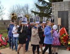 Унинцы приняли участие в торжественном митинге и возложили цветы к памятнику воинам-землякам
