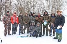 Соревнования по зимней спортивной рыбалке на Больничном пруду