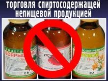 О приостановлении розничной торговли спиртосодержащей непищевой продукцией,спиртосодержащими пищевыми добавками и ароматизаторами