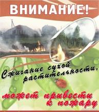 Соблюдение правил пожарной безопасности в весенне-летний пожароопасный период