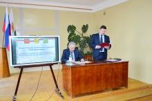 Глава района А.В. Шаклеин  выступил с отчетом по итогам работы за 2017 год