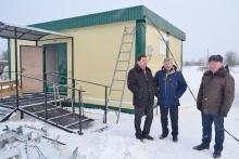 Завершаются строительные работы по возведению фельдшерского пункта в д. Удмуртский Сурвай