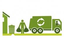 График вывоза твердых коммунальных отходов в зависимости от нормы накопления отходов и количество контейнеров в Унинском районе