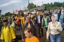 Паломники прибыли в село Великорецкое