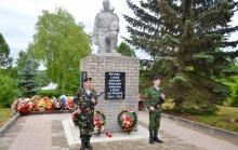 Торжественной открытие памятника воинам-унинцам после реконструкции