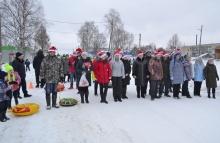 «Новогодний забег Дедов Морозов и Снегурочек» в Унинском районе
