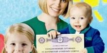 Ежемесячная выплата семьям, имеющим право на материнский капитал, на детей до 3 лет