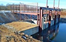 Приняты работы по капитальному ремонту гидроузла Заякинского водохранилища