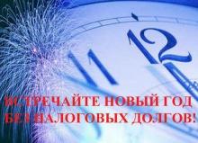 «В Новый год - без налоговых долгов!»