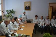 Встреча старшеклассников школ района с медперсоналом Унинской больницы