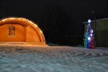 Районный центр встречает новый год украшенным и нарядным