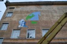 Новое граффити создают на главном корпусе Вятского аграрнотехнологического университета